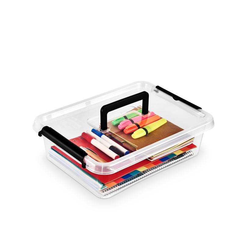 Pojemnik do przechowywania ORPLAST Simple box, 8,5l, z rączką, transparentny