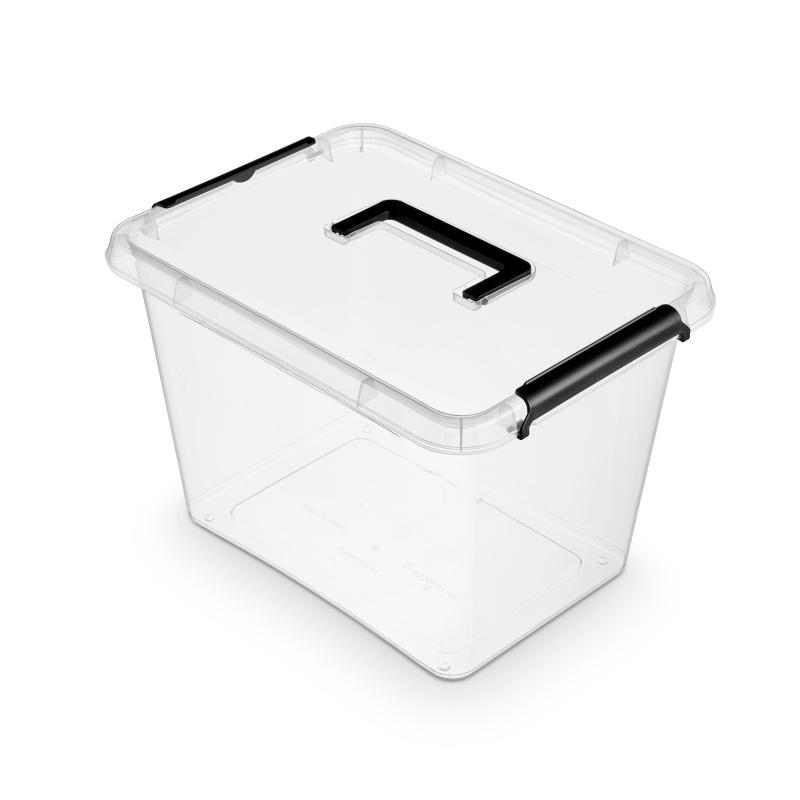 Pojemnik do przechowywania ORPLAST Simple Box, 19l, z rączką, transparentny